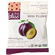Fruit Bliss Organic Dried Fruit, French Agen Plums, Mini Packs, 1.76 Ounce (Pack of 12)