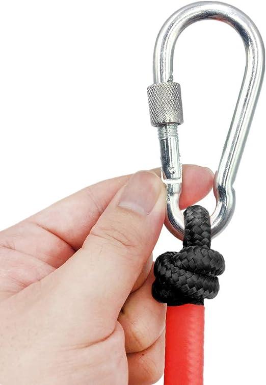 Cuerda – 20m de Largo, 6mm / 8mm de Diámetro - Multipropósito Soft Cuerda de Tejiendo con 2 Mosquetón, 150kg / 250kg Multiusos Cuerda de Pesca para ...