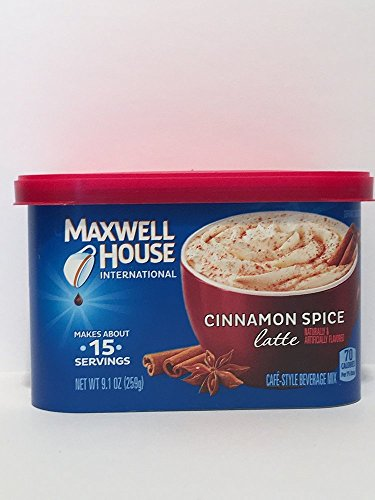 (Maxwell House International Cafe Flavored Instant Coffee, Cinnamon Spice Latte, 9.1 Ounce)