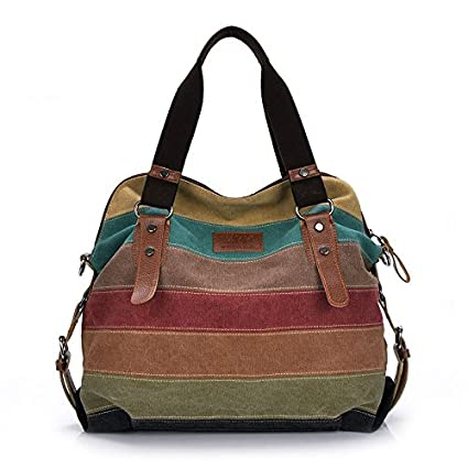 5376397ba15fa Amazon.com  WYHUI New Vintage Women s Tote Canvas Women Handbags ...