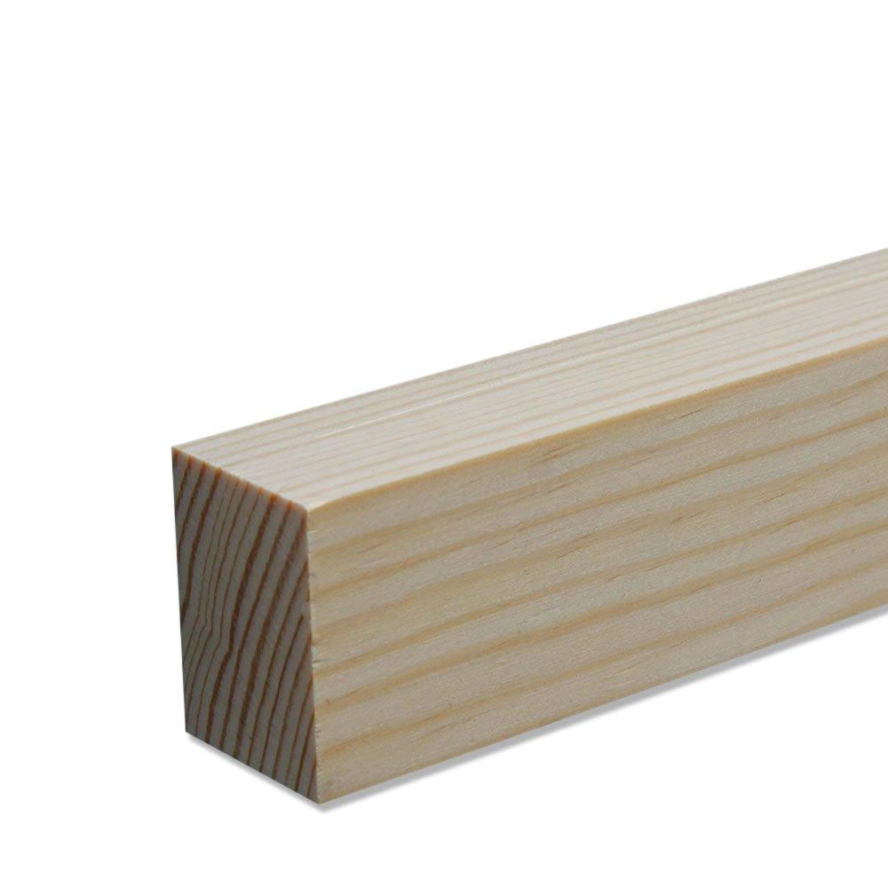 Rechteckleiste Bastelleiste Abschlussleiste aus unbehandeltem Kiefer-Massivholz 2100 x 5 x 58 mm