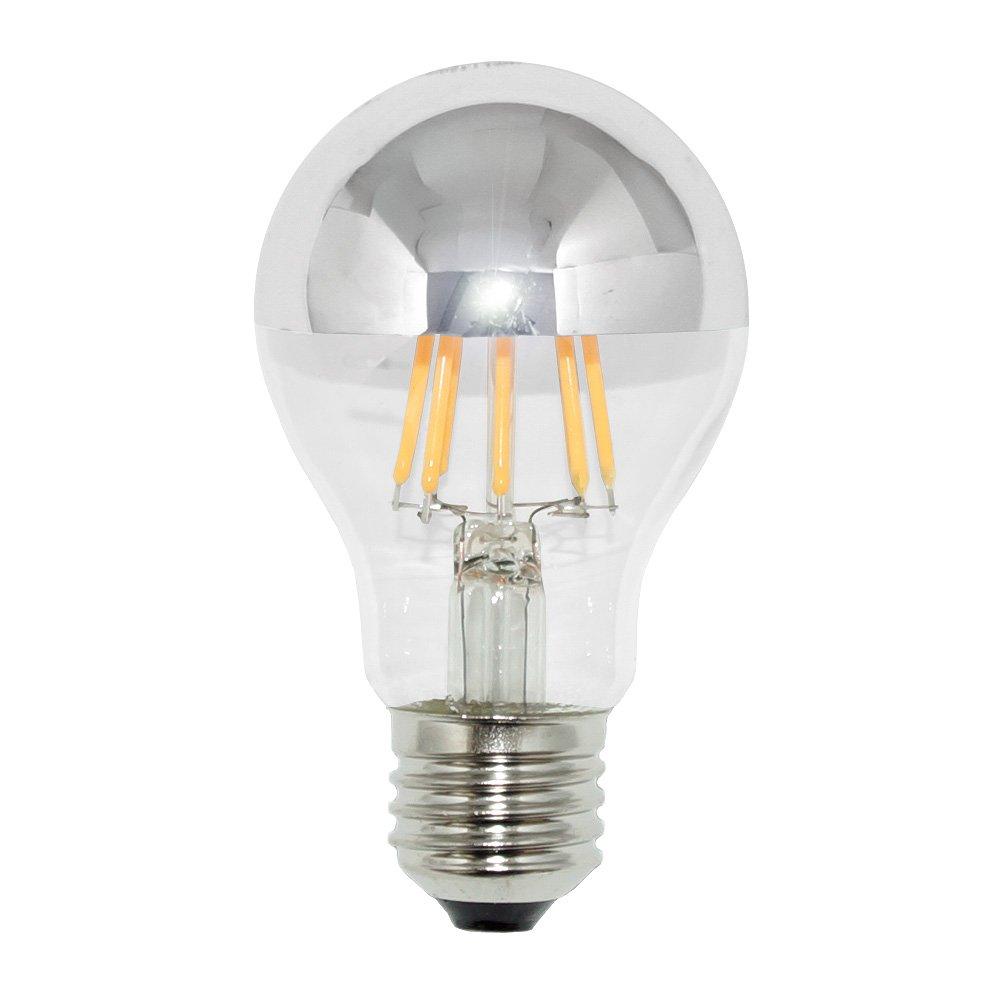 6 x LED Filament Kopfspiegel Silber Birnen 6,5W ersetzt 60W E27 warmweiß 2700K