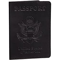 Black Passport Cover - Passport Holder - Passport Case for Men & Women …