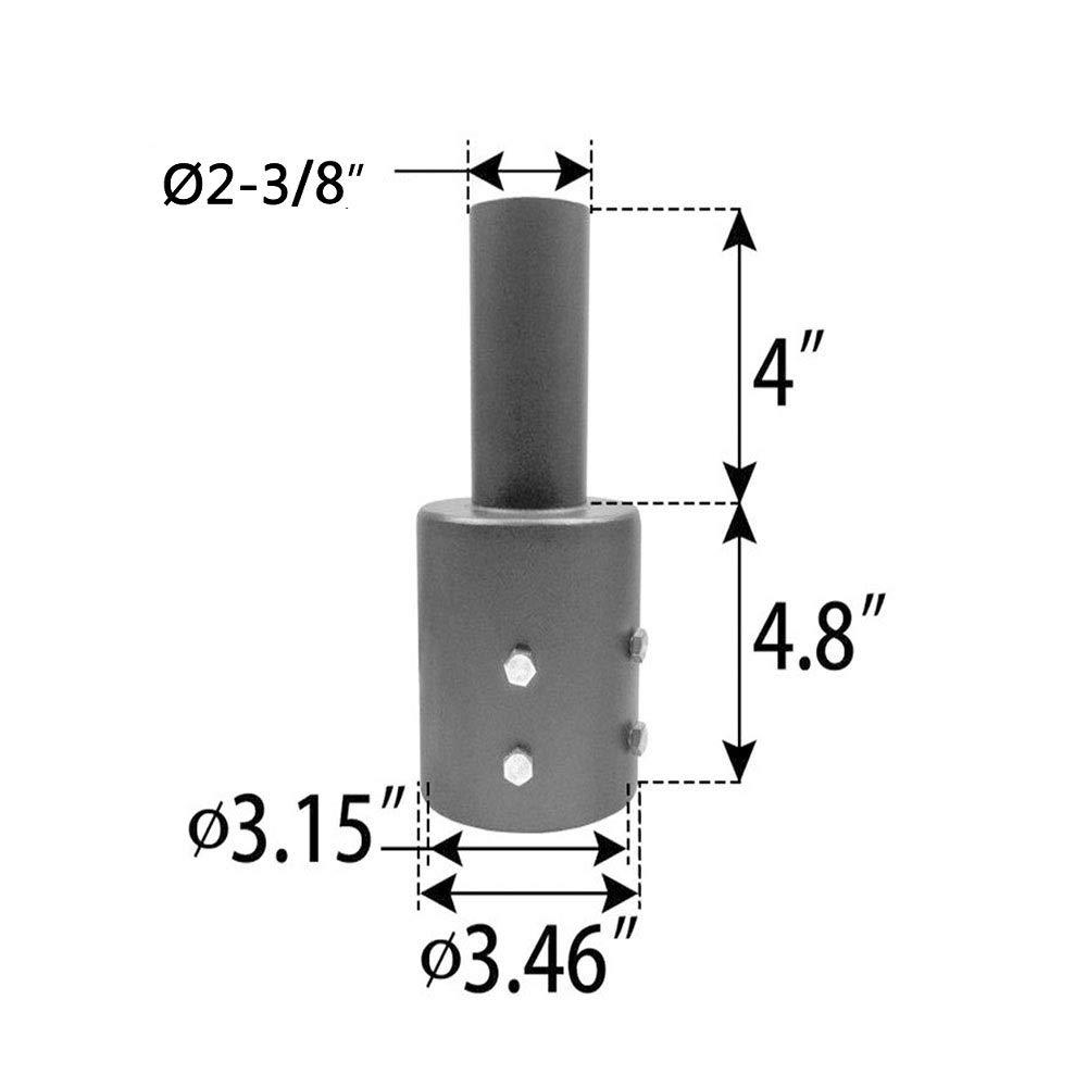 Mounting Bracket for shoebox Light Tidyard Tenon Adapter 3 /& 4 inch Round Pole