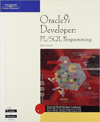 Pl Sql Developer Book