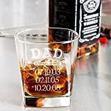 Dad whiskey glass, Father's day gift, Engraved dad gift whiskey glass 9.25 oz.