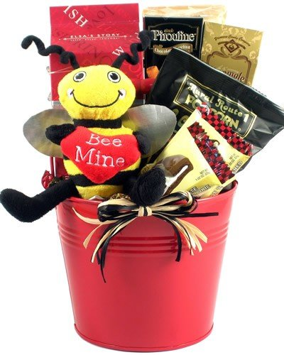 Bee My Valentine Fun Valentine's Day Gift Basket ()