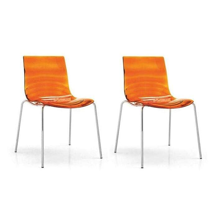 Inside - Juego de 2 sillas Design el Agua Naranja ...