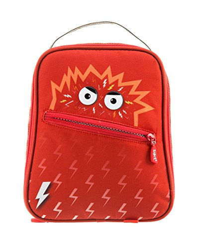 ZIPIT Talking Monstar Lunch Bag for Children, Red