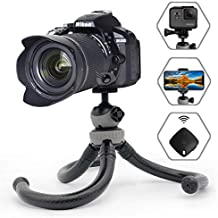 """Flexible Tripod and 12"""" Phone Tripod with Wireless Remote Shutter, Tripod for iPhone, Android Phone, Camera, Sports Camera GoPro - Waterproof"""