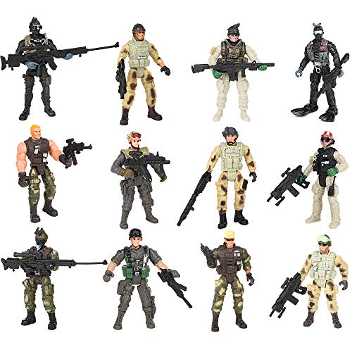 PROLOSO Military Soldier Playset Special Forces Action Figures 4