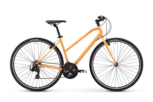 Raleigh Bikes Alysa 1 Women's Fitness Hybrid Bike, Orange, 17
