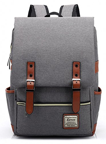 Great Features Of Kenox Vintage Laptop Backpack College Backpack School Bag Fits 15-inch Laptop
