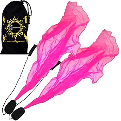 Angel Poi Spiral Poi- Practice Poi (PINK) by Flames N Games + Travel Bag!: Toys & Games