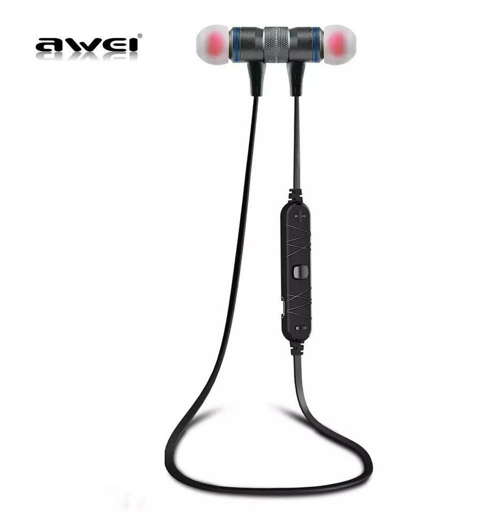 Amazon.com: AWEI A920BL Bluetooth Wireless Sport Exercise Stereo Noise Reduction Earbuds Build-in Microphone Earphone For Apple iPhone 7 Plus S7 S6 S5 ...