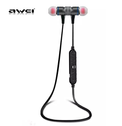 AWEI A920BL Bluetooth Wireless Sport Exercise Stereo Noise Reduction Earbuds Build-in Microphone Earphone For