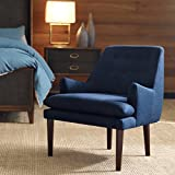 Taylor Navy Tufted-back Accent Chair For Sale