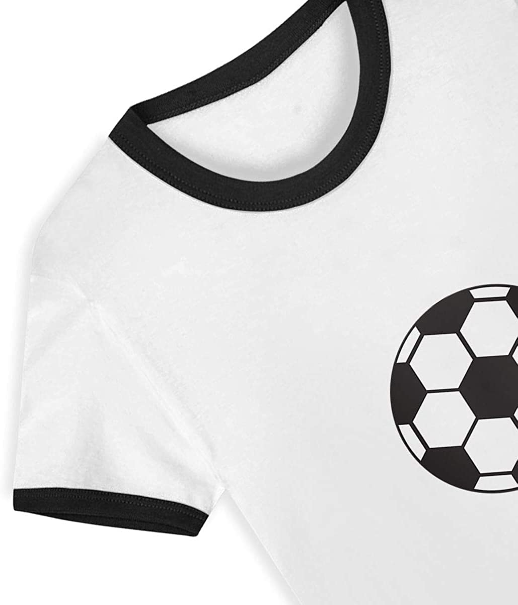 LX FootballCasual Childrens Printing Logo Round Collar Short Sleeve T-Shirt Cotton Tee for Kids