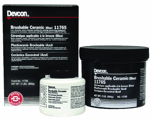 Devcon 11765 Blue Brushable Ceramic Epoxy Compound, 2 lb. Bottle by Devcon