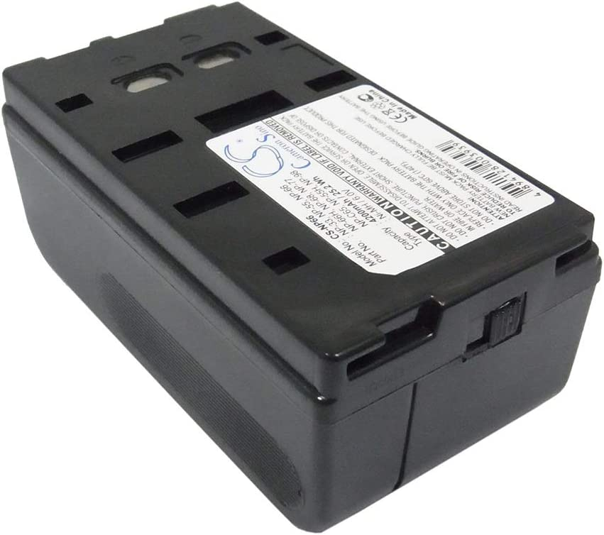 Color : Black, Size : 89.30 x 46.20 x 36.60mm Battery Camera 4200mAh//25.20Wh 6.0V Camera Battery for 52061 53601 53704 Photo Battery