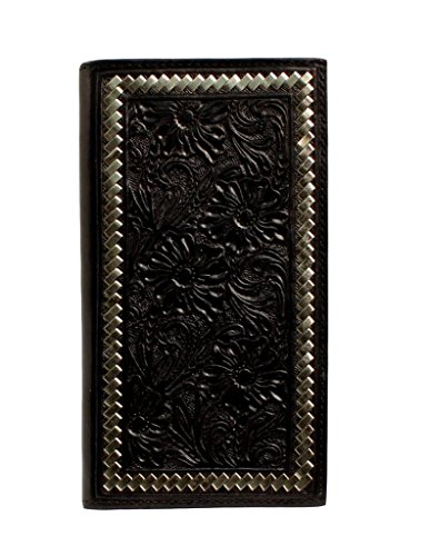 Ariat Unisex-Adult's Steel Lace Floral Rodeo Wallet, Black