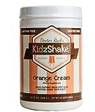 KidzShake - Kids Orange Cream Protein Powder with Plant Based Vitamins & Probiotics | Great for Nutritional Shakes - 12.13oz