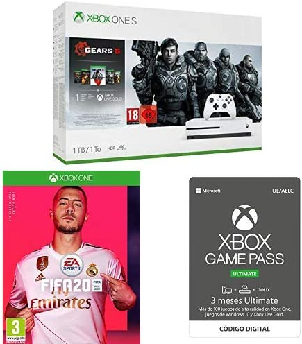 Xbox One S Gears 5 + FIFA 20 + Xbox Game Pass Ultimate - 3 Meses ...