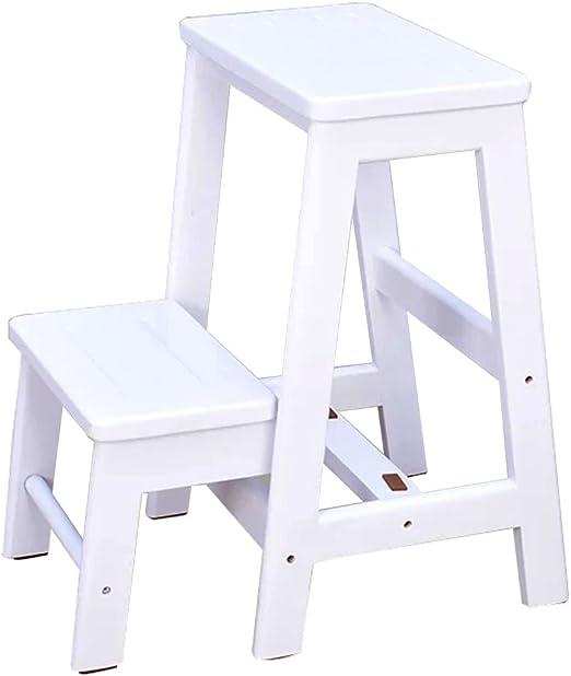 Kitchen stool Taburetes Escalera Taburetes, taburetes Dobles Plegables Escalera de instalación Libre Taburete casa Lectura Taburete balcón Flor Sala de Estar Mesa de café Subir la Escalera: Amazon.es: Hogar