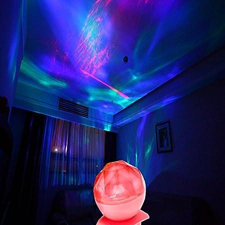 LED aurora de proyector de-océano dinámico de sueño de luz de la ...