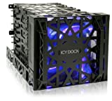 hdd bay cooler - Icy Dock MB074SP-B Black Vortex Removable HDD 4 in 3 Module Cooler Cage