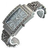Sinceda Watch Black Classic Roman Figures Series Women's Bangle Wrist Watches