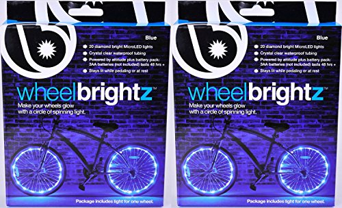 Brightz, Ltd. Wheel Brightz LED Bicycle Accessory Light (2-Pack Bundle 2 Tires), Blue - Ltd Rear Wheel