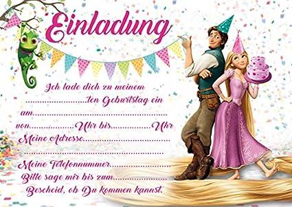 10 invitaciones para cumpleaños infantil Rapunzel nuevo ...