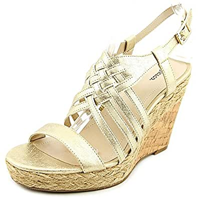 Style & Co. Womens Raylynn Open Toe Casual Platform Sandals, Gold, Size 7.0