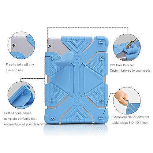 """Universal inch Case, Silicone Protective Stand for iPad Tab 9.7 inch, Kindle 8.9"""",HUAWEI T3 AGS-W09"""