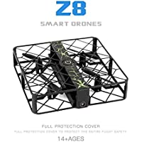 Glorrt Z8 RC Mini Drone 0.3MP Wifi 2.4G 6AXIS Altitude Hold UFO Quadcopter Pocket Drone (black)