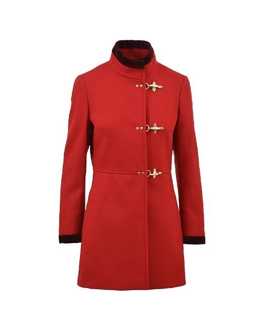 Fay Cappotto Donna Naw50354000hapr800 Lana Rosso  Amazon.it  Abbigliamento 3b6cd92a8428