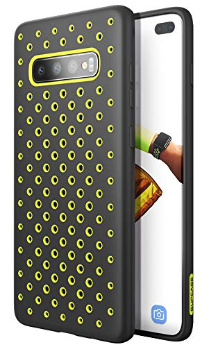 SUPCASE Unicorn Beetle Sport Series Designed for Samsung Galaxy S10 Plus Case 2019 Release Liquid Silicone Rubber PC Premium Hybrid Case [Hole Pattern] with Heat Dissipation (Green)