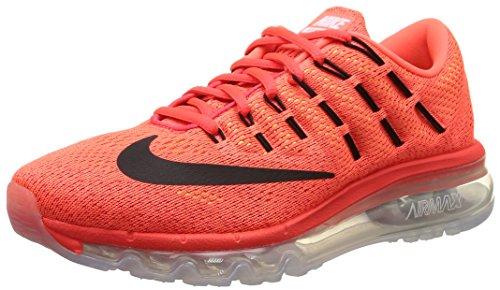 Nike Air Max 2016 (GS), Zapatillas de Running Para Niños Naranja / Negro / Rojo (Bright Crimson / Blck-Gym Rd-Vlt)