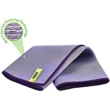 Nano-Knockout Window and Glass Cleaning Cloth - ULTRA MICRO-FIBER - Streak Free Microfiber Towel - JUST ADD WATER No Detergents Needed – for Windows, Glass, Mirror, and Screen - Leaves no Wiping Marks