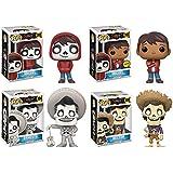 Funko Pop! Disney Pixar Coco complete set of 4 vinyl figures with CHASE