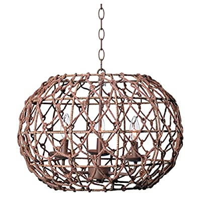 Kenroy Home Torus 3 Light Pendant, 14.5 Inch Height, 20 Inch Width, Tan