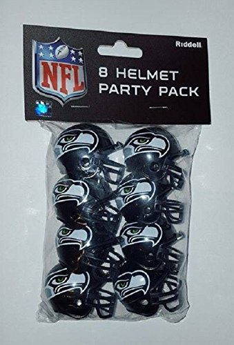(Seattle Seahawks Official NFL 1.5 inch Team Helmet Party Pack by Riddell 330280)