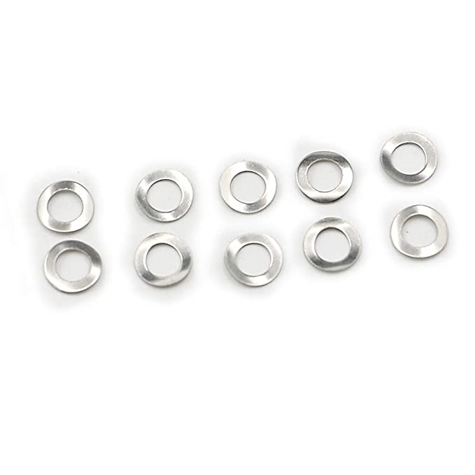 100PCS Motoparty DIN137A M6 Wave Washers Spring Washer 6mm Gasket Curved Washers Din 137A
