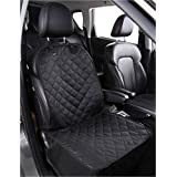 Alfheim Dog Bucket Seat Cover - Nonslip Rubber Backing with Anchors for Secure Fit - Universal Design for All Cars, Trucks & SUVs (Black)GIFT:ONE PET CAR SEAT BELT