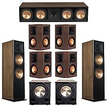 Klipsch 7.2 Walnut System with 2 RF-7 III Floorstanding Speakers, 1 RC-64 III Center Speaker, 4 Klipsch RP-250S Surround Speakers, 2 Klipsch PL-200II Subwoofers