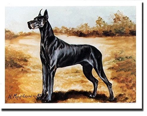 Black Great Dane Profile Notecards