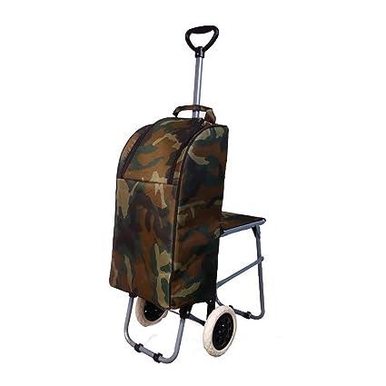 Carretilla plegable de tres ruedas Carro para subir escaleras livianas con bolsa impermeable extraíble para lavandería