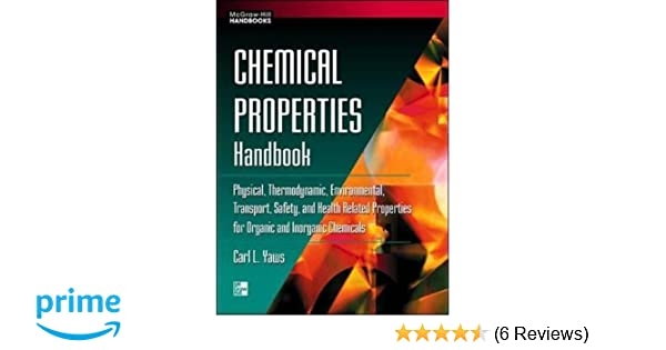 Carl L Yaws Chemical Properties Handbook Pdf