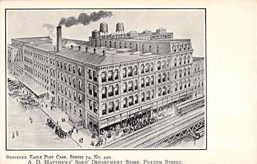 Brooklyn New York Matthews Sons Department Store Antique Postcard - Brooklyn Stores Department